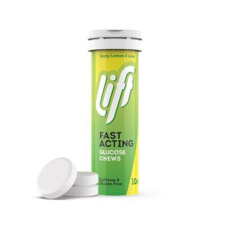 Tubo 10 pastillas de glucosa - Lima/Limón